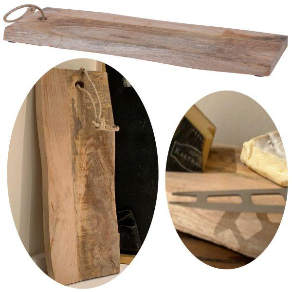 Mango Schneidebrett Echt-Holz 60cm Servierbrett Vesperbrett Schneidbrett