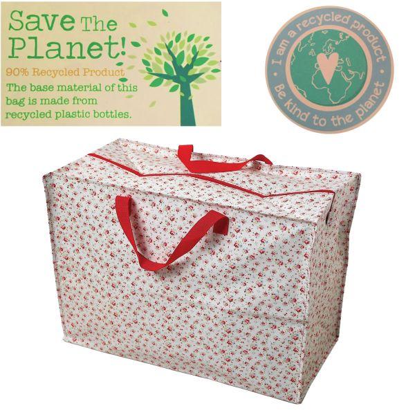 XXL Jumbo Bag Petite Rose Weiß Recycled Allzwecktasche Einkaufstasche