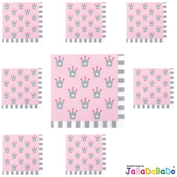 JaBaDaBaDo 20 Servietten Rosa Prinzessin Geburtstag Party Z17188