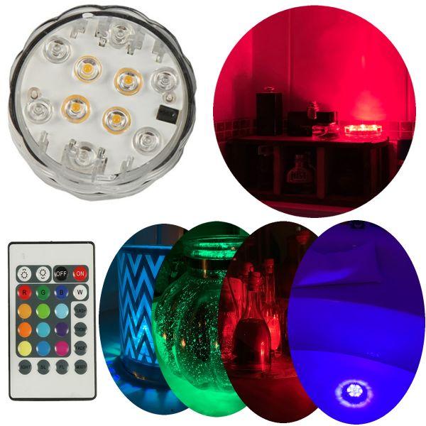 LED RGB Licht SPA-Lampe Badewanne Pool Teich Unterwasser Beleuchtung