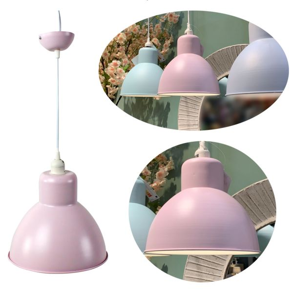 Hänge-Lampe Pendel-Leuchte Rosa Hängeleuchte Deckenleuchte