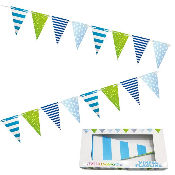 JaBaDaBaDo XL Wimpelkette Blau Grün Girlande Geburtstag Party Z17051