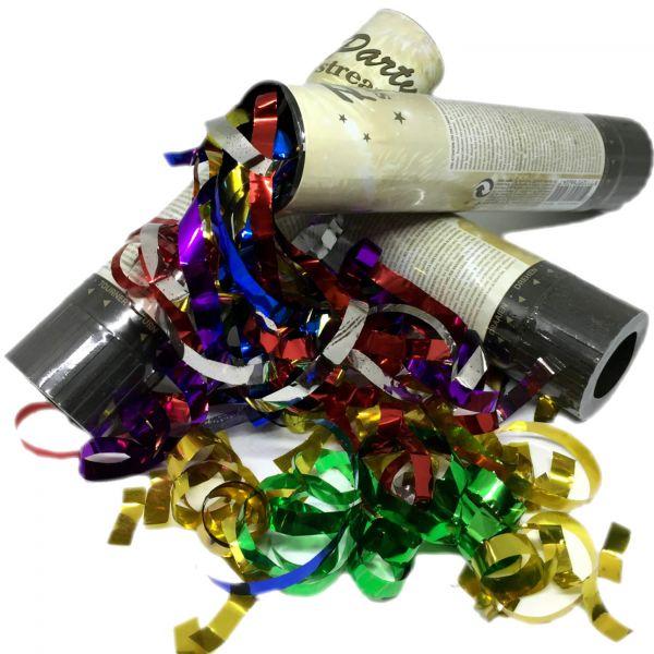 3x Konfetti Regen Kanone Shooter Bombe Partypopper Hochzeit Bunt Gold Grün Rot
