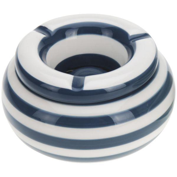 XL Sturmaschenbecher 14x9cm Blau Weiß Windaschenbecher Aschenbecher