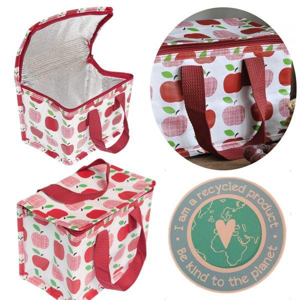 Vintage Kinder Kühltasche Apfel Rot Öko Isoliertasche Kühlbox Recycelt