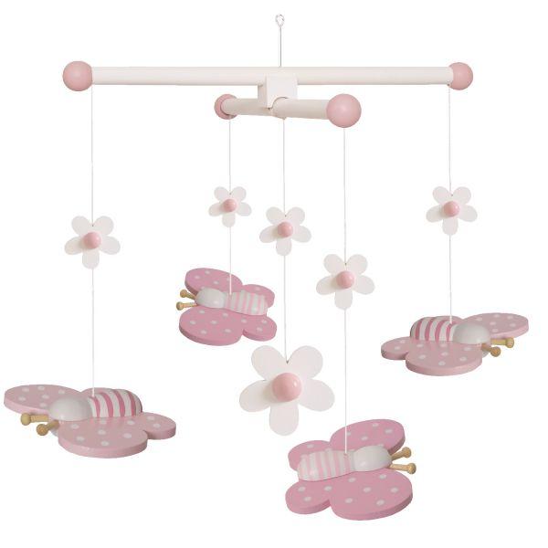 JaBaDaBaDo Holz-Mobile Schmetterling Rosa Pink T249 Baby Kinder-Zimmer