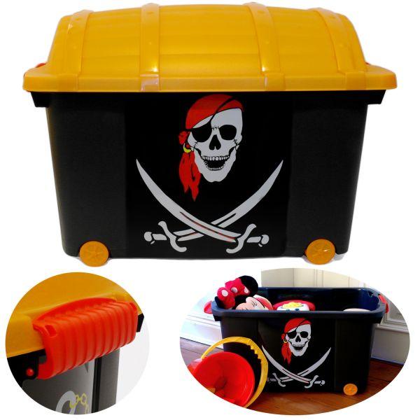 XL Spielzeugkiste Piraten-Kiste 60x40cm Schatz-Truhe Aufbewahrungsbox