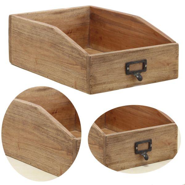Holz Apotheker Schublade 33cm Cutlery Besteckkasten Besteckkorb Napoli