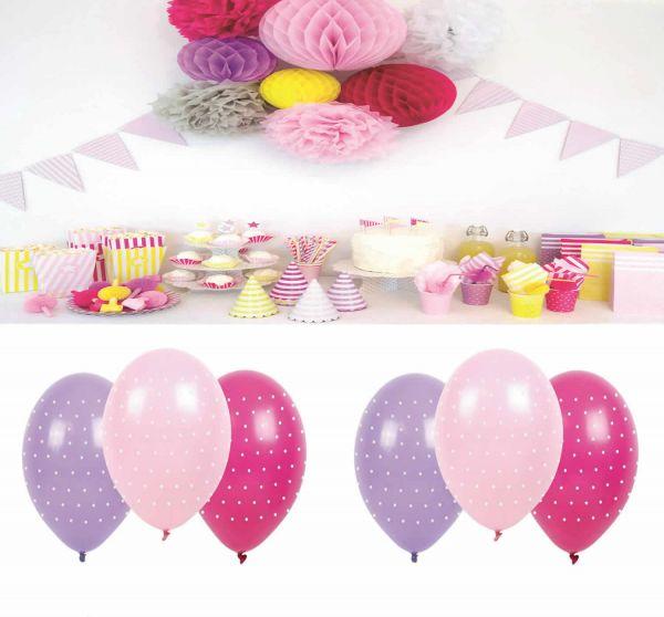 JaBaDaBaDo 6 Luftballon Naturlatex Pink Rosa Lilia Party Geburtstag B2004