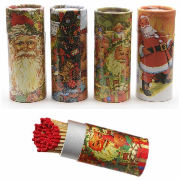 XL 120 Streichhölzer 10cm lang Köcher Zündhölzer Weihnachten 2er-Set