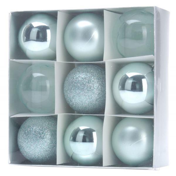 18 Kunststoff Weihnachtskugeln Grün Türkis 6cm Baumkugel Dekokugel