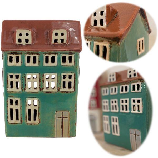 Teelichthaus Lichterhaus 17cm Keramik Fachwerkhaus Nyhavn Teelichthalter