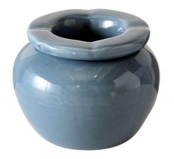 Keramik Sturmaschenbecher 10x7cm Blau Windaschenbecher Aschenbecher
