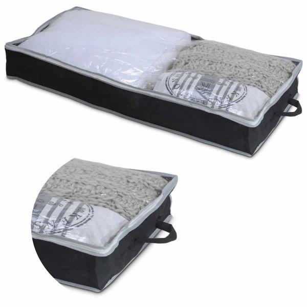 Aufbewahrungsbox Unterbettkommode Stoff Kleiderbox Kleidersack Atmungsaktiv