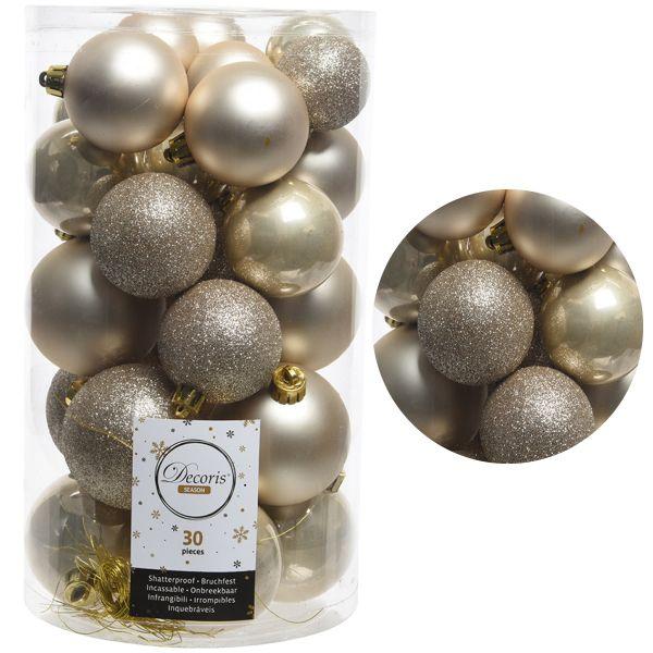 30 Kunststoff Weihnachtskugeln Perle 4cm-6cm Baumkugel Dekokugel