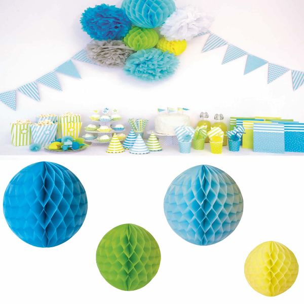 JaBaDaBaDo 4 Honeycombs Blau Papier Kugel Wabenball Geburtstag Z17154