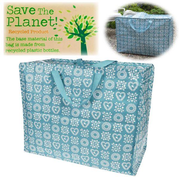 XXL Jumbo Bag Blue Friendship 55cm Allzweck-Tasche Recycled Einkaufstasche