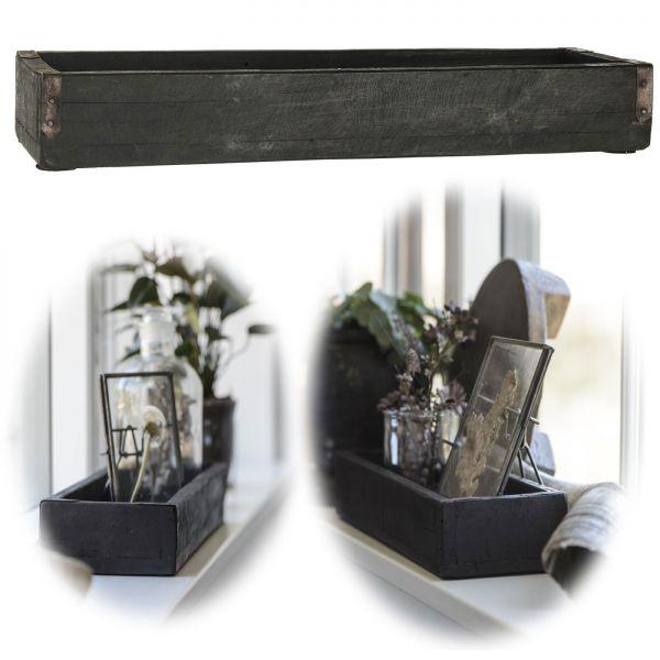 Holz Aufbewahrungsbox Unika Schwarz 43x13x6cm Deko-Kiste Ib Laursen