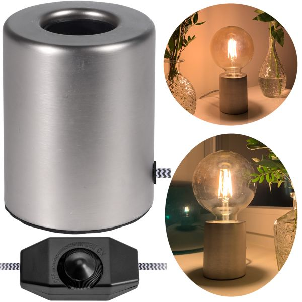 Tischlampe LED Edison Filament 24cm Tischleuchte Nachttischlampe