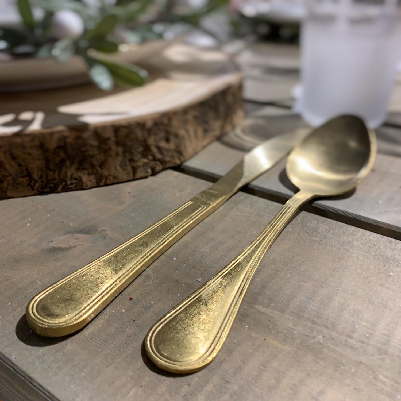 Goldfarbenes Besteck Set Paris 16 Teilig Gold Matt Edelstahl 18 10 Ls Lebenstil