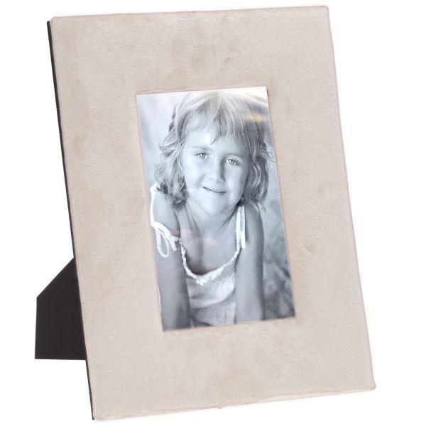 Bilderrahmen Fotorahmen Samt Beige Grau 10x15cm Retro Vintage