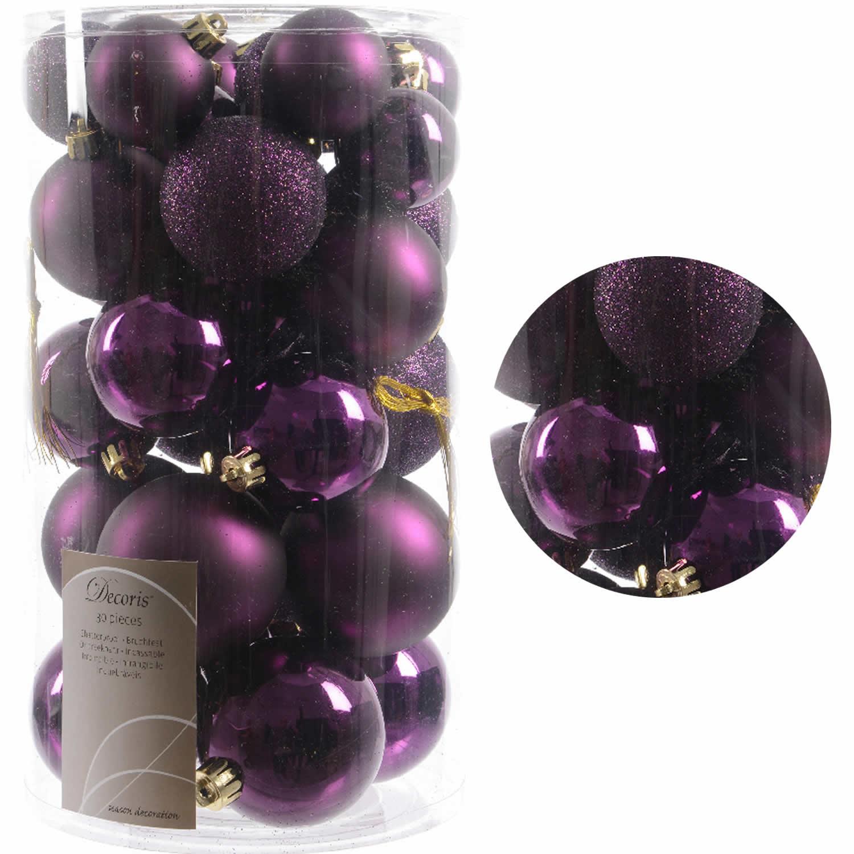 Christbaumkugeln Violett.30 Kunststoff Weihnachtskugeln Lila Purple 4cm 6cm Baumkugel Dekokugel