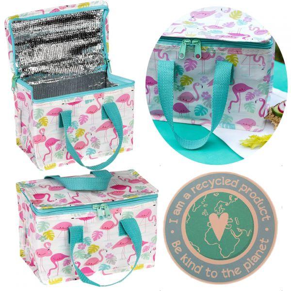 Vintage Kinder Kühltasche Flamingo Rosa Thermotasche Öko recycled Lunchbag