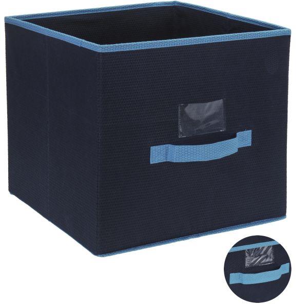 Faltbox Regalkorb 31cm Blau Faltkiste Aufbewahrungsbox Spielkiste Staubox