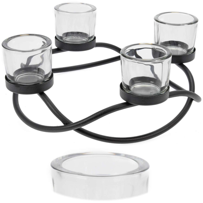 Kerzenleuchter Kerzenhalter Teelichthalter Adventskranz ohne Dorn 4 ...