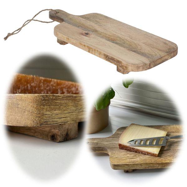 Mango Schneidebrett Echt-Holz 35cm Vesperbrett Schneidbrett Deko-Tablett