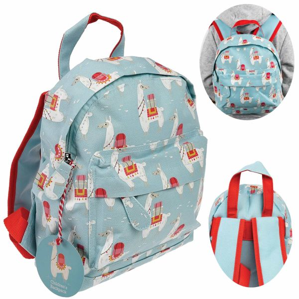 Kinder Rucksack Backpack Alpaka Lama 28x20cm Kindergartentasche
