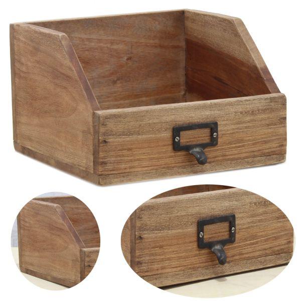 Holz Apotheker Schublade 24cm Cutlery Besteckkasten Besteckkorb Napoli