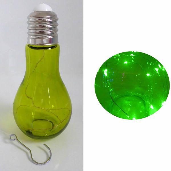 Deko Glühbirne LED Mirco Draht Grün Leuchte Tischlampe Standlampe