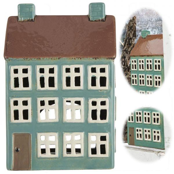Teelichthaus Lichterhaus 19cm Keramik Fachwerkhaus Nyhavn Teelichthalter