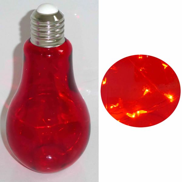 XL Deko Glühbirne LED Mirco Draht Rot Leuchte Tischlampe Standlampe