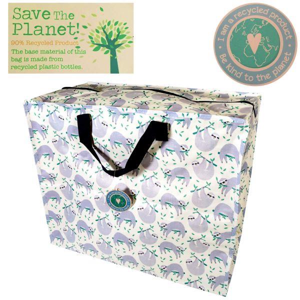 XXL Jumbo Bag Recycled Faultier Grau Allzwecktasche Einkaufstasche