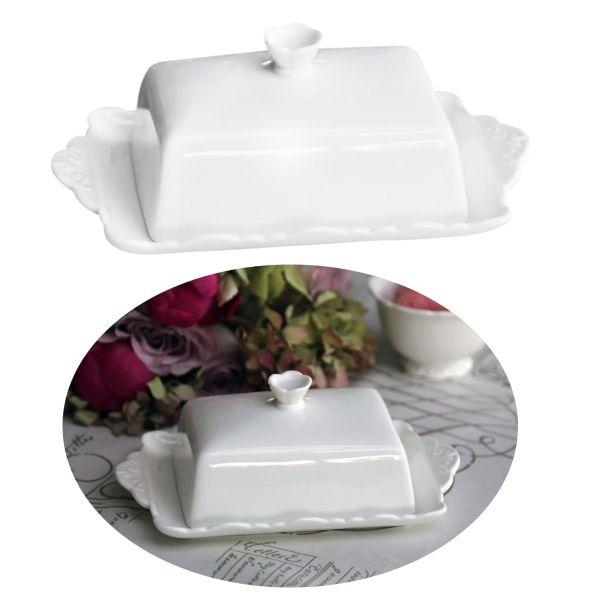 Porzellan Butterdose Deckel 250g Butterglocke Butter-Schale Behälter