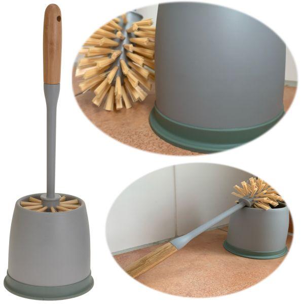 WC-Bürstengarnitur Toilettenbürste Grau Bürste Bürstenhalter Klobürste