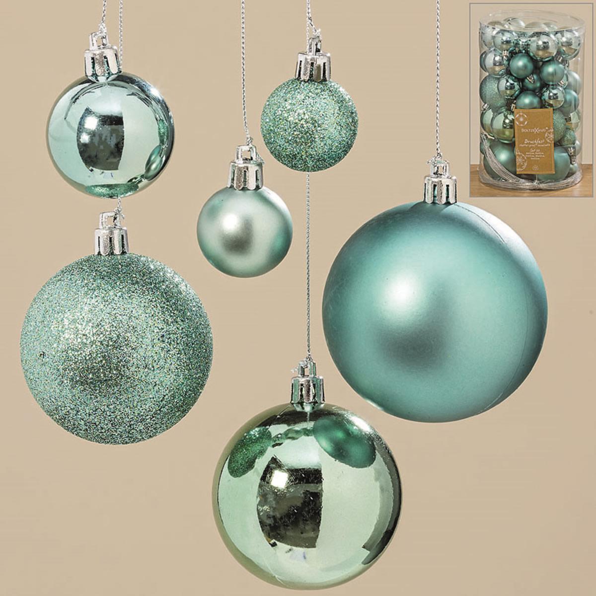 Christbaumkugeln Außenbereich.50 Design Kunststoff Weihnachtskugeln 3 7cm Grün Bamkugel Dekokugel