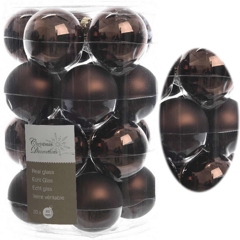 Christbaumkugeln Glas Braun.18 Design Glas Weihnachtskugeln 6cm Braun Schokolade Glaskugel