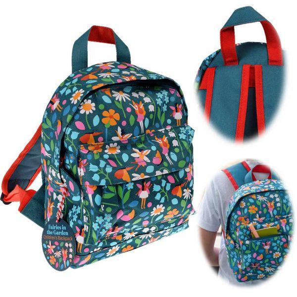 Kinder Rucksack Backpack Fairies Garden 28x20cm Kindergartentasche