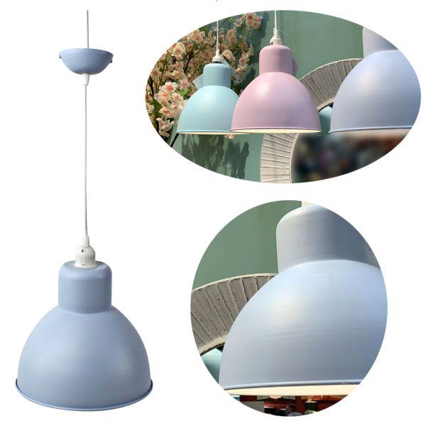 Hänge-Lampe Pendel-Leuchte Blau Hängeleuchte Deckenleuchte