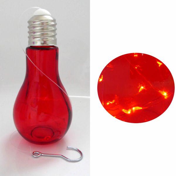 Deko Glühbirne LED Mirco Draht Rot Leuchte Tischlampe Standlampe