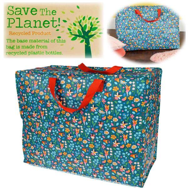 XXL Jumbo Bag Fairies Garden 55cm Allzweck-Tasche Recycled Einkaufstasche