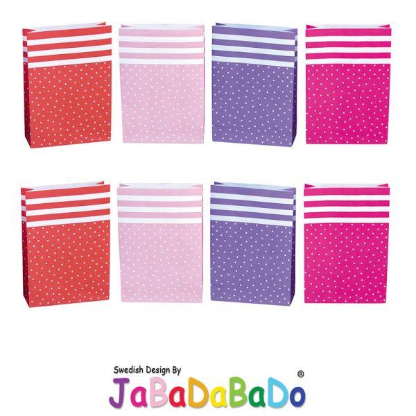 JaBaDaBaDo 8 Geschenketüte rot rosa pink Tüte Gastgeschenk Geburtstag Party