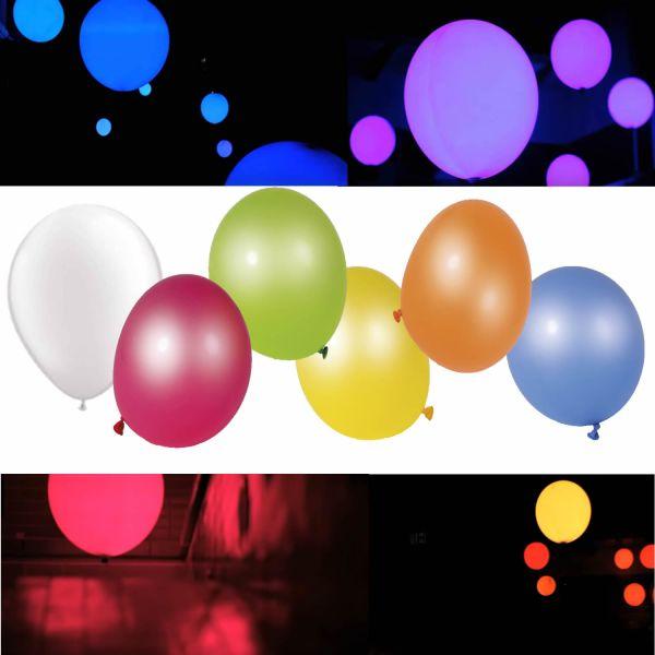 6 LED Luftballons Ballon Geburtstag Hochzeit Feier Party Deko