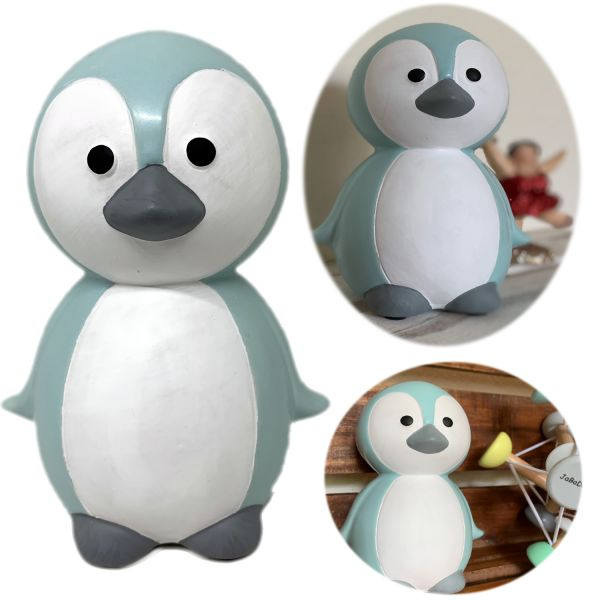 JaBaDaBaDo Keramik Sparschwein Pinguin Blau Weiß Spardose G10040