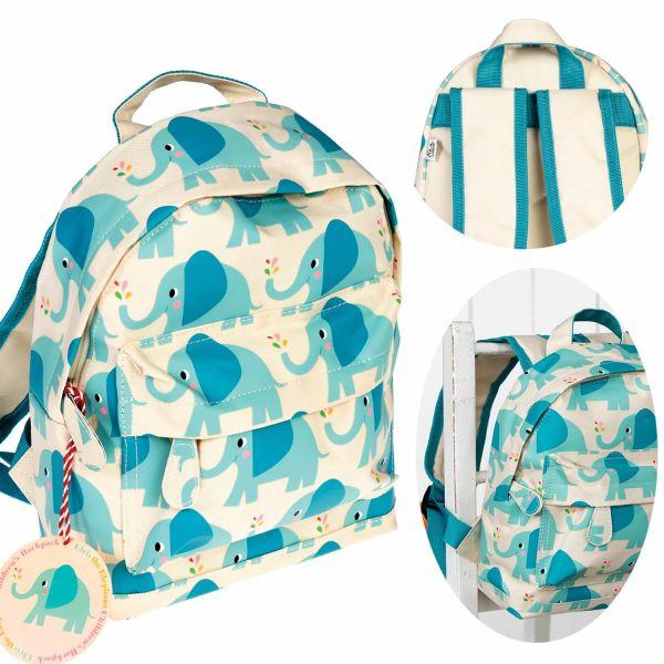 Kinder Rucksack Backpack Elefant 28x20cm Kindergartentasche