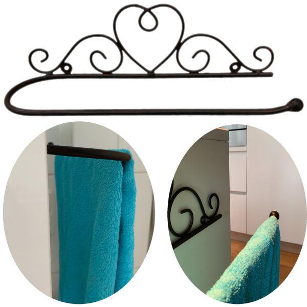 Handtuchhalter Handtuchstange 38cm Rost Braun Wandhalterung Vintage