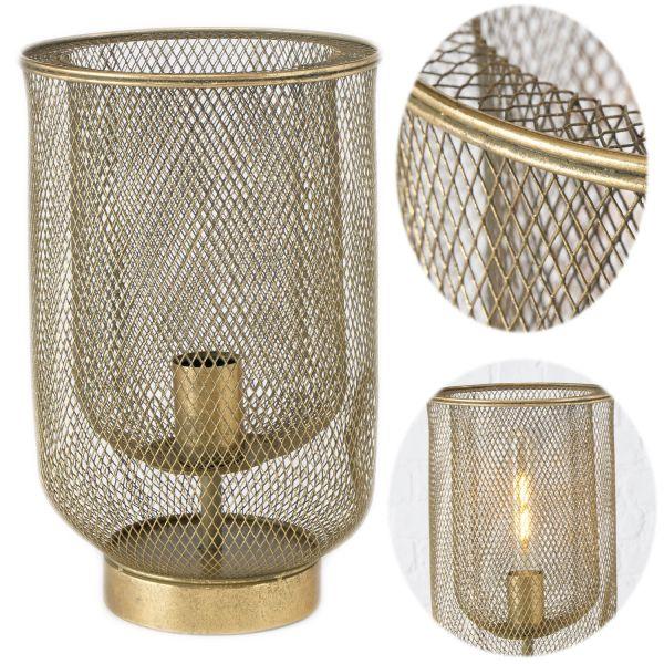 Tischlampe Campos Gold 35cm E27 Tischleuchte Bodenlampe Stehlampe